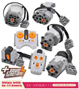 Technic Building Blocks Train Motor Remote Model Set Toy Battery For Lego US