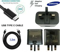 Genuine Samsung Fast Charger & 1.5M USB Type-C Data Cable For Galaxy Phone Lot