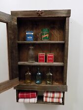 Reclaimed Rustic medicine Cabinet  ...door choice  mesh, glass, mirror