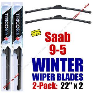 WINTER Wipers 2-Pack Premium Grade - fit 1999-2007 Saab 9-5 - 35220x2