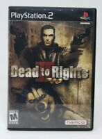Dead To Rights II 2 Sony PlayStation 2 PS2 Game