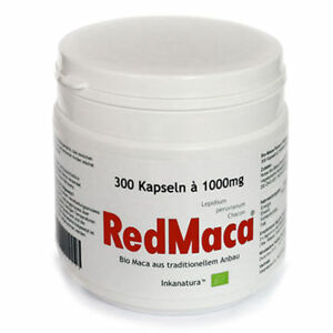 RED MACA® BIO 300 Stk. KAPSELN à 1000mg Peru - Maca HOCHDOSIERT! Inkanatura®