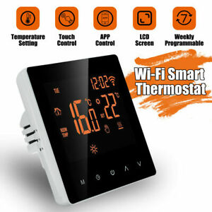 Home Smart Programmable Thermostat Wifi Wireless Room Heated Digital App Control