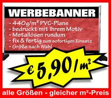 €5,90/m² PVC-Plane 440g/m² geöst Werbebanner Werbeplane Digitaldruck WERBUNG