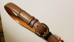 "VTG COACH #8400 Putty Cowhide Leather Belt W/Solid Brass Buckle Women's 26""/65cm"