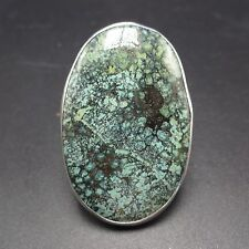 Huge Oval Sterling Silver & Webbed TURQUOISE RING, size 8.5, FLORENTINO BAILON