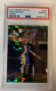 2017 Panini Hoops Kobe Bryant Green 22/99 PSA Gem MT 10 🔥🔥🏀Mamba POP 1