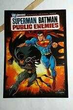 SUPERMAN BATMAN PUBLIC ENEMIES DC UNI MOVIE 5x7 FLYER MINI POSTER (NOT A movie )