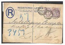 Ee24 1885 GB a lepizig Germania registrati CD l'utilizzo di 1 1/2 D Liliac Copertura PTS