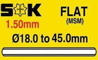 Sternkreuz German Watch Glass Crystal - Flat  - 1.5mm thick range 18mm to 40mm
