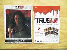 HBO'S TRUE BLOOD ARCHIVES TARA THORNTON P4 PROMO CARD