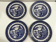4 Johnson Brothers England Blue Willow Dinner Plates Ironstone Nice