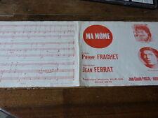 JEAN FERRAT & DANIEL GUICHARD - Ma môme - Partition !!!!!!!!!!!!!
