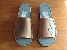 LADIES Beige Slip ons.By GREENS SHOES .Size 6 . NEW !