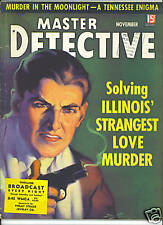 MASTER DETECTIVE MAGAZINE Nov 1935 Horror at Hawk's Prairie VINTAGE True Crime