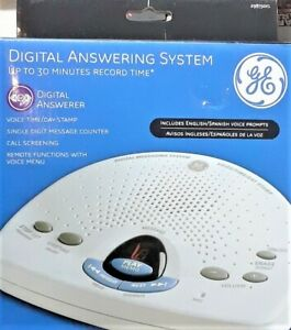 GE DIGITAL MESSAGING SYSTEM ENGLISH/SPANISH ANSWERING MACHINE 29875GE1-B NIB