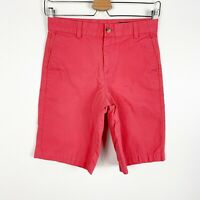 Vineyard Vines Youth Boys Chino Flat Front Shorts Pink Salmon Coral Solid Sz 12