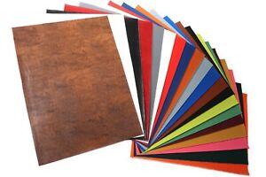 20 Stück Kunstleder Stoff Blätter 31cm x 43cm für DIY Basteln Nähen Herstellung