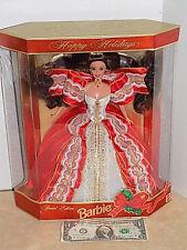 RARE 1997 Happy Holiday Barbie #17832 Error Gold Background  NIB