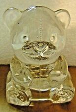 Party Lite Glass Teddy Bear Tea Light Candle Holder/Ring Holder