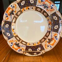 braemar woods burslem english china plate W637 Imari Color Gold Trim 10""