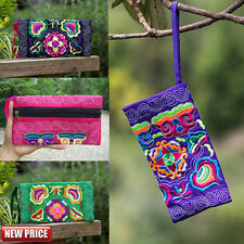 Women Ethnic Handmade Coin Purse Embroidered Wristlet Clutch Bag Rerto Wallet UK