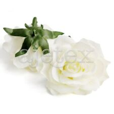 5pcs Rose Artificial Flower Heads Bride Bouquet Decor 10cm Cream FBHS19-5