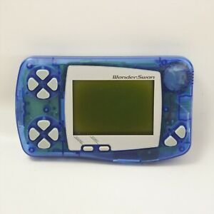 JUNK Wonder Swan Console Skeleton Blue Not working SW-001 Bandai 9355 ws