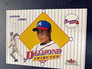 Andruw Jones Fleer Skybox Tradition 2001 Atlanta Braves Card. Diamond Tributes.