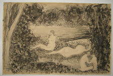 Arnold Friedman 1930s Nude Bathers Under Trees Important American Modernist