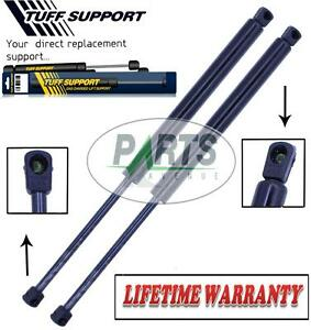 2 REAR WINDOW GLASS LIFT SUPPORTS SHOCKS STRUTS ARMS PROPS RODS