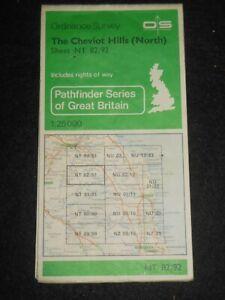 Ordnance Survey Pathfinder Map Sheet 82/92 Cheviot Hills (North) North England