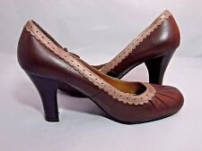 "Women's shoes Mudd Miley brown heel 2.5"" size 6 M"
