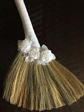 Elegant Wedding Broom with Lace wrapped handle