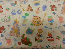 PARTY TIME PINK FAT QUARTER FABRIC 50 cm x 56 cm COTTON CUSHION PATCHWORK BUNTIN