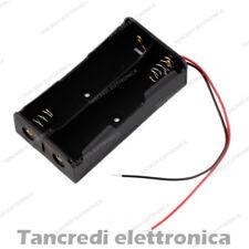 Portabatteria per 2 batterie 18650 Li-ion Litio porta pila pile batteria cella