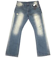 Buffalo Mens Jeans King Slim Boot Wash Sanded & Distressed Size 34x32 $119