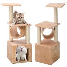 Arbre à chat Griffoir grattoir jouet animal Centre Chambre beige 30x30x90cm NEUF