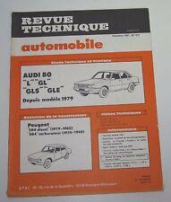 Revue technique automobile RTA 417 Audi 80 L GL GLS GLE 1979 ->