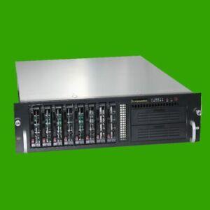 "Rack Server Gehäuse 3 HE Supermicro CSE-833 48,3 cm (19"") inkl. 8 fach Backplane"