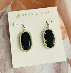 Kendra Scott golden Black Earrings