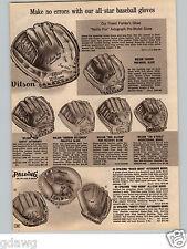 1966 PAPER AD Nelson Fox A2020 Baseball Glove Roger Maris Whitey Ford Ron Santo