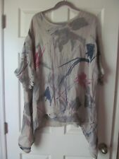 NWT ZULILY BEIGE ANNA LINEN SIDETAIL TUNIC SIZE 14