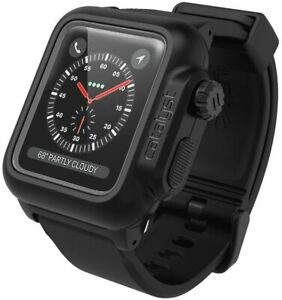 Waterproof case for Apple Watch 42mm Series 2 & 3 With Premium Soft Silicone...