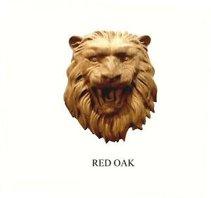 Lion Head Hardwood Aplique, Wall plaque