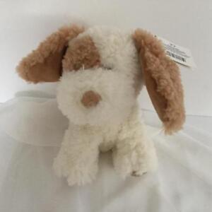 RUSS BERRIE MYLO PUPPY DOG SMALL SIZE PLUSH STUFFED ANIMAL TAN AND WHITE BNWT
