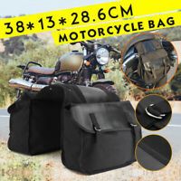 MOTORCYCLE LARGE TWIN BLACK SPORTS PANNIER BAGS MOTORBIKE/BIKE STORAGE PANNIERS