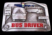 CITY BUS DRIVER STREET SIGNS PASSENGER BUSES BELT BUCKLE BOUCLE DE CEINTURE