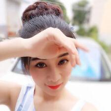 Fashion Women Clip On Hair Bun Donut Extension Piece Scrunchie Multi Color T