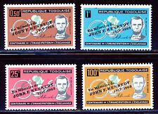 TOGO 1963 LINCOLN SET WITH 1964 JOHN F KENNEDY O/P SCOTT 473-75, C41